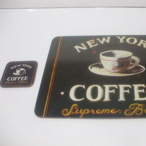 Other - New York Coffee 1 placemat and1 coaster corkboard